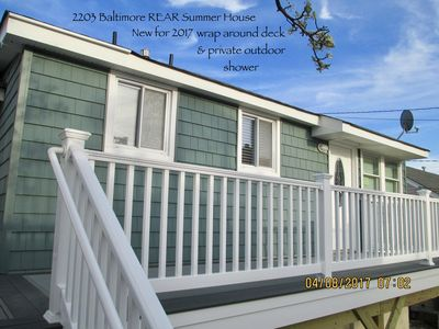 Photo for LAVALLETTE New House/Deck/Out-shower, C-A/C, Wifi, Badges, Granite Kitchen