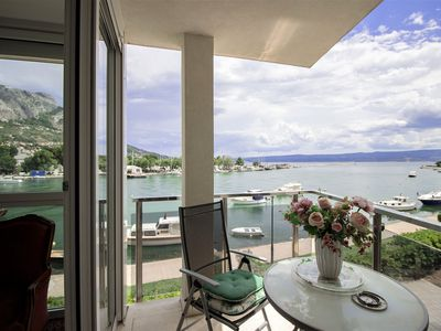 Photo for A nice apartment in the center of Omis, with stunning views of the river.