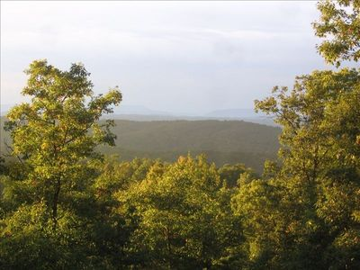 Summer View from the deck. The 45 mile view is obscured by humidity
