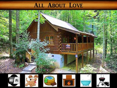 Photo for All About Love } Wifi / Hot Tub / Pet Friendly / Right off Pigeon Forge Parkway