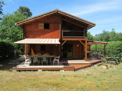 Photo for Superb wooden chalet in a calm setting