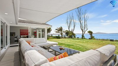 Photo for Karelda - absolute waterfront, pet friendly property
