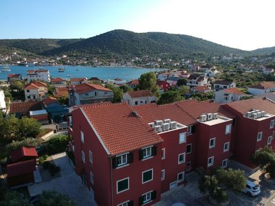 Photo for Fantastic apartment in Croatia near Trogir with pool and a large terrace