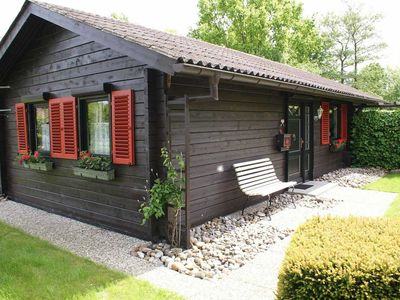 Photo for Log cabin with W-LAN - large terrace with awning - log cabin with W-LAN - very close to the beach -