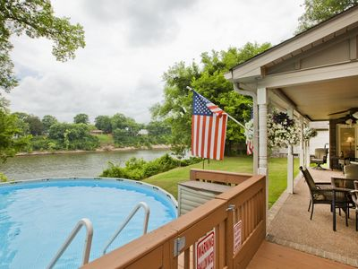 Photo for Riverfront, Kayaks, Boat Dock, Games, Pool, Hot Tub, 10 Min To Dwntwn Nashville!
