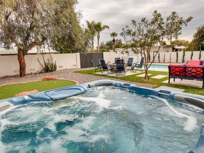 Photo for Spectacular 4BR/3BA~REC ROOM + POOL/SPA + FIRE PIT