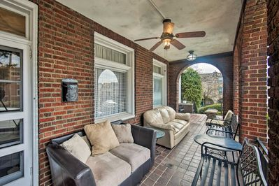 Unwind on the shared, furnished patio!