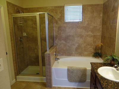 Shower and Tub in Master Bathroom