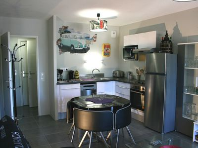 Photo for Bassin Arcachon very nice new apartment of 42m2 in zone Natura 2000, due south