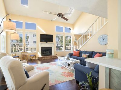 Three Palms Open Floor Plan, Bright Living Room with Partial Bay View