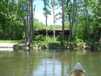 Photo for Lazy River Cabins-- A Mid-River Dream -- Cabin on the Shenandoah River.