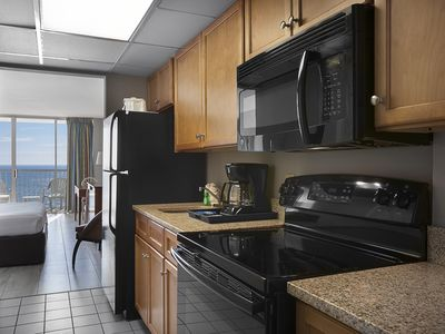 Photo for Oceanfront King Efficiency w/ Balcony + Official On-Site Rental Privileges