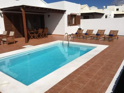 Photo for This 2-bedroom villa for up to 6 guests is located in Playa Blanca and has a private swimming pool,