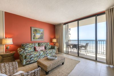 Relax in our beach themed condo while staring out at the Atlantic
