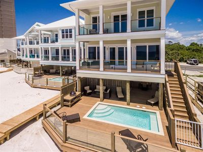 Photo for Coastal Living! Beachfront - Pool - Spacious Deck - Grill - Ocean View balconies