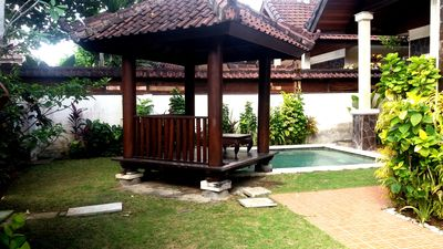 Photo for Family Villa with Private Pool & Garden, 2BR, Kitchen, Living Room and Free wifi