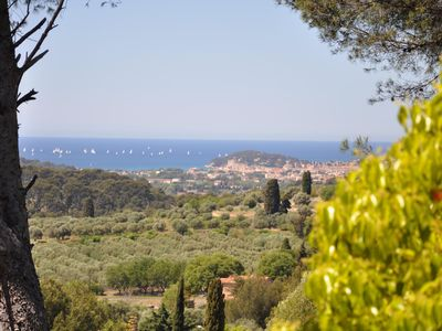Photo for 2 rooms on garden in villa in peace with a nice view on sea and a spa
