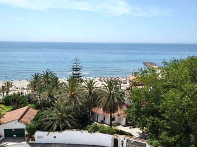 Photo for Sunny spacious apartment by the sea with swimming pool and breathtaking sea view !!