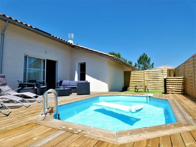 Photo for 3 bedroom Villa, sleeps 6 with Pool, FREE WiFi and Walk to Beach & Shops
