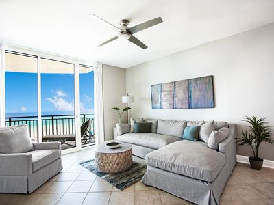 Photo for AQUA 308 Beachfront/No contact check in-out/High Clean Standards/Beach Chairs