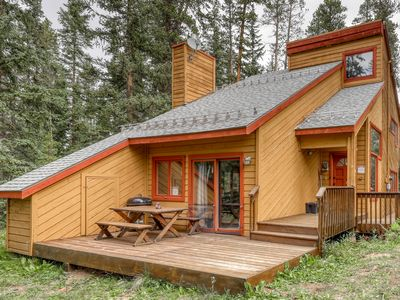 Photo for Woodland family home w/deck & fireplace-1 dog OK, near Breckenridge