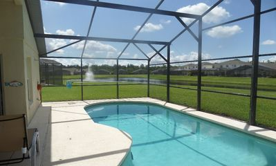 Photo for Upgraded Villa South Facing Pool With Lake View  Near Disney On Gated Community
