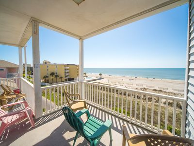 Photo for SEACOAST 7 ~ TOP FLOOR ~ FULL OCEAN VIEW ~ BEACH-ACROSS St ~ 3rd FL END UNIT