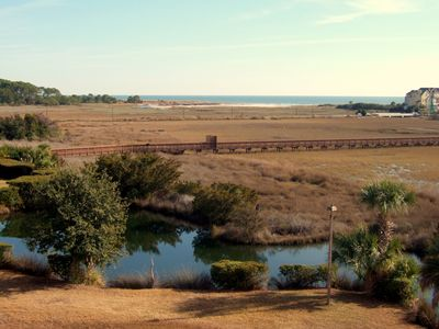 Breathtaking Views straight off the private Balcony; Lagoon, Marsh & Ocean!