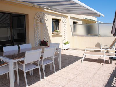Photo for BeauT 1 last floor sea view beautiful terrace direct access to the beach private parking