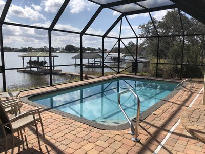 Photo for Welcome to LAKESIDE ESCAPE, enjoy private POOL and LAKEFRONT Dock. Fish & Kayak