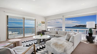 Photo for Malibu beachfront condo with private beach access and stunning ocean views