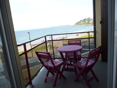 Photo for Apt very beautiful sea view located Trestraou beach - Wifi access