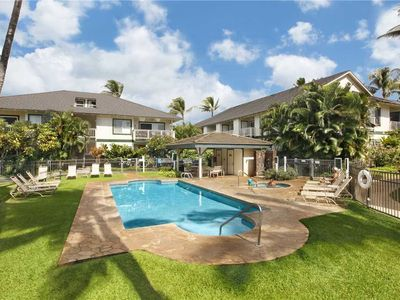 """Photo for Poipu Lovely Garden View steps from the Pool """"A/C Master & Guest Bedroom"""" *Regency 524*"""