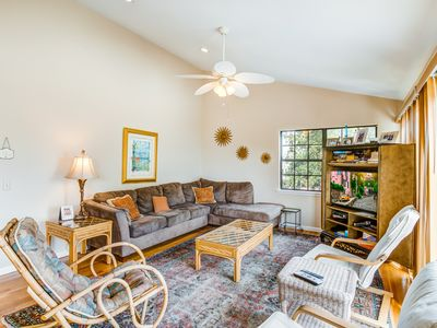 Photo for Relaxing oceanside home w/ multiple decks, outdoor shower- steps to beach access