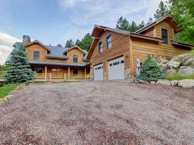 Photo for Dramatic Montana lodge w/ gourmet kitchen, home theater, and private studio