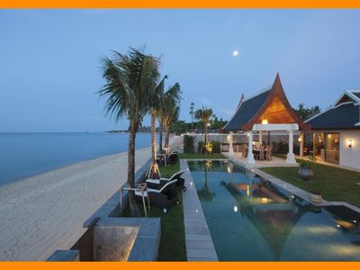 Photo for Maenam 6044 - Beachfront (sleeps 12 + 6 kids) Thai chef service and shared gym