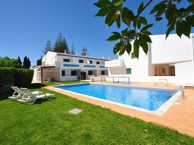 Photo for Oasys, swimming pool, 2 mins beach, fully equipped, wifi, air con, 2 terrace