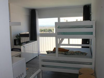 Photo for Renovated studio next to the beach