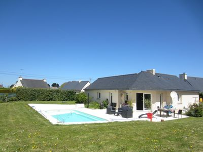 Photo for Beachfront villa with heated pool, beach 15 minutes walk, very quiet.