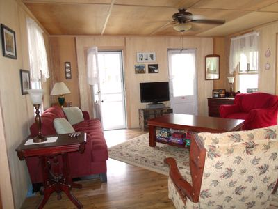 TV, games, movies and books available in cottage for a rainy day