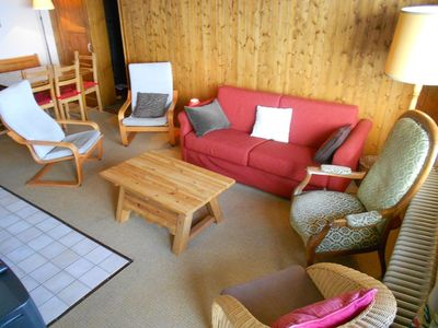 Photo for 4-room apartment 2 *, for 6-8 people located next to the departure of the gondola. Bright living roo