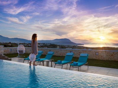 Photo for Villa Rhea with Spacious Private Pool, Jacuzzi and Amazing Views