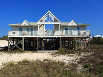 Photo for Beachside Cottage 4bd/3.5 bath No street to cross Direct gulf views