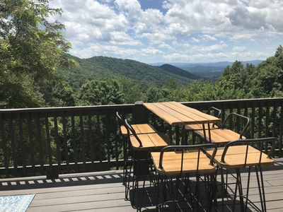 Photo for Panoramic Mountain Views Renovated Luxury Secluded Retreat, 5 min from Asheville