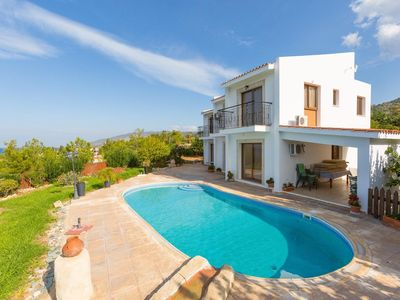Photo for Villa Hermis: Large Private Pool, Walk to Beach, Sea Views, A/C, WiFi, Eco-Friendly
