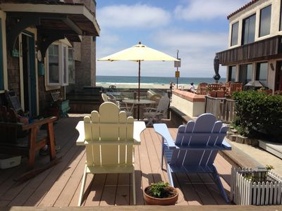 Photo for Charming 2BR ~ 1 Door 2 Shore*Large Ocean Front Deck+ Pvt Patio *Great Dec rate!