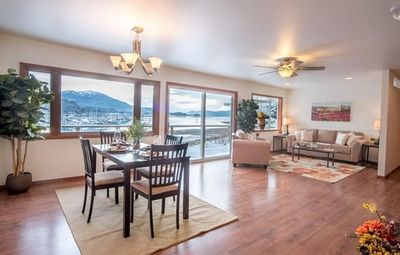 Photo for Oceanfront Home Overlooking The Harbor With Mountain Views