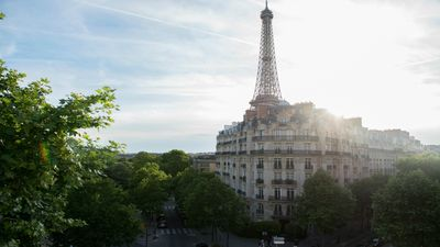 Amazing Eiffel Tower view from the Champagne apartment!