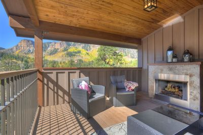 Durango Colorado vacation rental home near Purgatory Resort outdoor living room