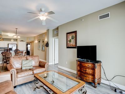 Photo for NEW LISTING! Water view beachfront condo - shared pool, steps to beach!